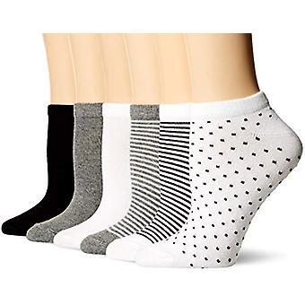 أساسيات المرأة & apos;ق 6-حزمة عارضة الجوارب منخفضة قطع, الأسود متنوعة, 8 إلى 12