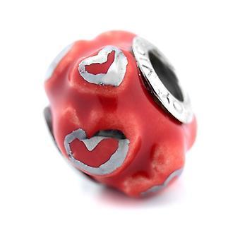 Perles de dames Vice-roi VMM0290-09 Rouge (1 cm)
