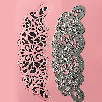 Stencil Frame Embossing Template For Greeting Card - Edge Lace Hollow Border Metal Cutting Dies