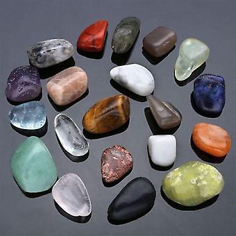 Coleção de Pedra de Chakra de Cura Polida de Cristal Natural - Popular