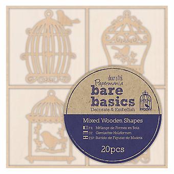 ورق أساسيات عارية الأشكال الخشبية Birdcages (20pcs) (PMA 174693)