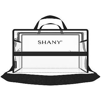 SHANY واضحة PVC مقاومة للماء حقيبة حمل السفر - كبير انظر من خلال حقيبة مع الأشرطة الكتف قابل للتعديل وجيوب سستة