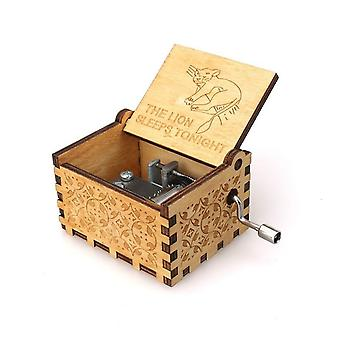 The Lion King Theme Wooden Engraved Handmade Vintage Music Box