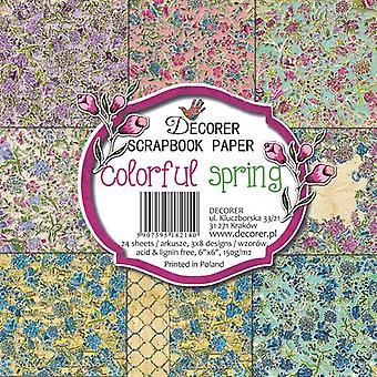 Decorer Colorful Spring 6x6 Inch Paper Pack