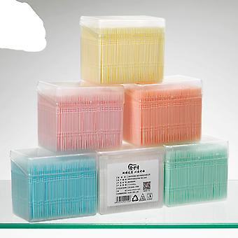 1100pcs Gum Interdentale Floss Plastic Double Headed Brush Stick Tandenstokers