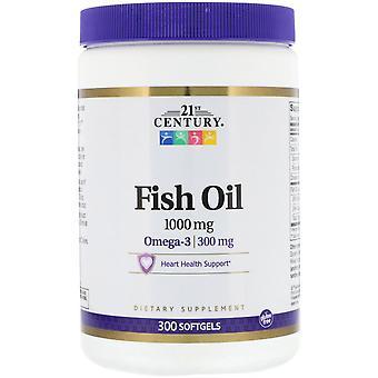 21ème siècle, Huile de poisson, 1000 mg, 300 Softgels