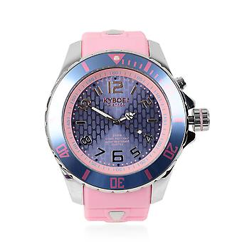 KYBOE Japanese Movement 100M Silver Candy LED Watch in Steel with Rotating Bezel