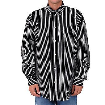 Balenciaga 642291tjm091070 Männer's schwarze Baumwolle Shirt