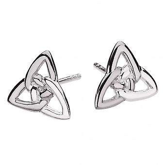 Heritage Sterling Silver Celtic Trinity Knot Stud Earrings 4325HP