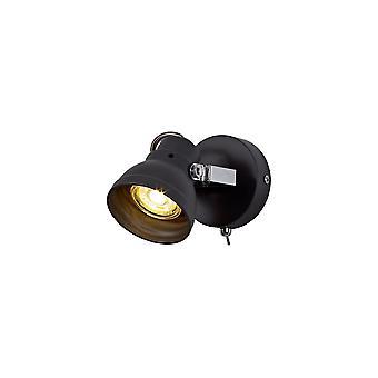 Éclairage Luminosa - Projecteur réglable, 1 x GU10 (Max 10W LED), Matt Grey, Chrome poli