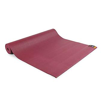 fitness mad warrior yoga ii mat 4mm burgundy for yoga and pilates