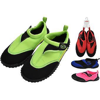 Nalu Hook and Loop Aqua Surf/Beach / Wetsuit Shoes size 13J