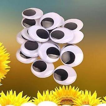 Muovi itseliimautuva fake pyöreä elliptinen heilua googly nukke lelu silmät 100kpl