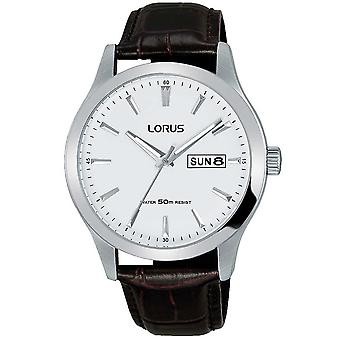 Lorus Mens Stylish Dress Watch with Brown Leather Strap (Model No. RXN29DX9)