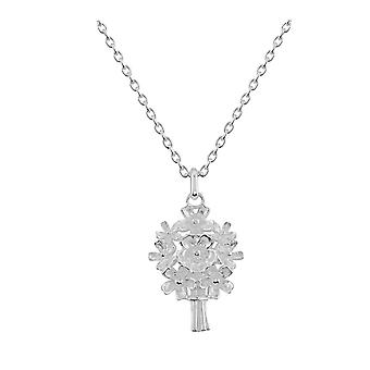 Dew Sterling Silver Forget Me Not Bouquet Pendant 90808HP