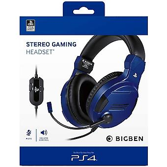 Bigben Official Playstation Gaming Headset V3 For PS4 - Blue