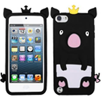 Asmyna Crown Piggie Pastel Skin -kuori Apple iPod Touchille 5.