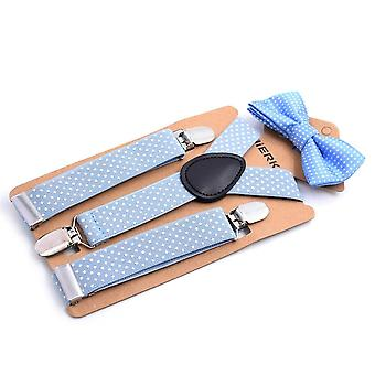 Cathery Kids / Polka Dot Suspender Clip With Bow Tie Set- Adjustable Suspender