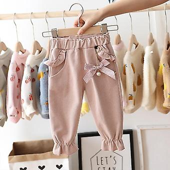 Autumn Baby Kids Pants- Dot Polka Bow Ruffles Casual Trousers, Infants Clothes