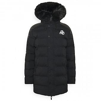 Kings Will Dream Hunton Black Fur Hooded Puffer Coat