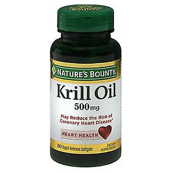 Nature's Bounty Red Krill Oil, 500 mg, 24 X 30 Softgels