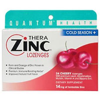 Quantum Health Cold Season+ TheraZinc Lozenges, Cherry 24 Loz
