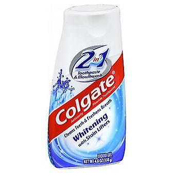 Colgate 2 In 1 Toothpaste & Mouthwash Whitening, 4.6 oz
