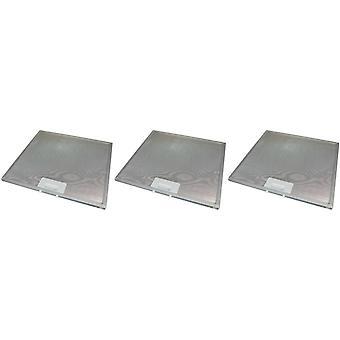 3 x Universal Cooker Hood Metal Grease Filter 330mm x 320mm
