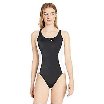 نايكي السباحة النساء & s لون ارتفاع قوة المتابعة قطعة واحدة ملابس السباحة قطعة، أبيض، X-كبير