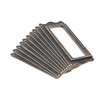 10pcs Antique Brass Handle Label, Pull Frame Name, Card Holder