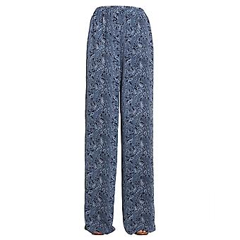 Michael By Michael Kors Mu83h0d9as361 Women's Blue Polyester Pants