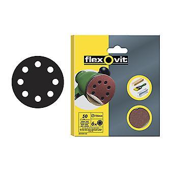 Flexovit Hook & Loop Lixando Discos 115mm Sortidos (Pacote de 6) FLV26501
