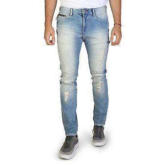 Armani scambia men's bottoni e zip di fissaggio jeans