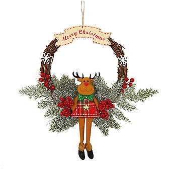 New Christmas Decoration Wreath Handmade Artificial Rattan Christmas
