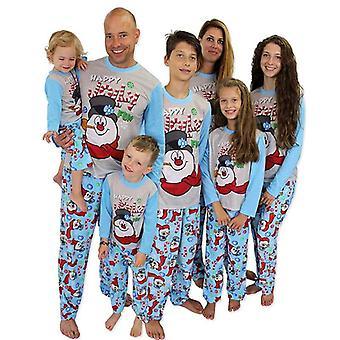 Family Matching Christmas Pajamas Set, Print Warm Swearshirt And Pants