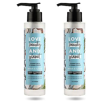 Love Beauty & Planet Hydrate & Refresh Face Wash, 2pk, 125ml