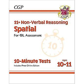 Nye 11 + GL 10-minutters test: Ikke-verbal ræsonnement rumlige - Alder 10-11 (med Online Edition)