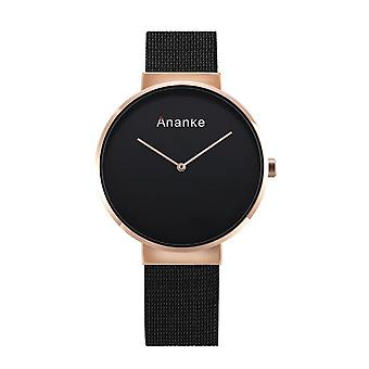 Ananke Casual Style Men Quartz Watch Stainless Steel Strap Fashion Simple Dial