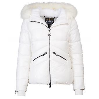Barbour International Disport Quilted Faux Fur Trim Jacket
