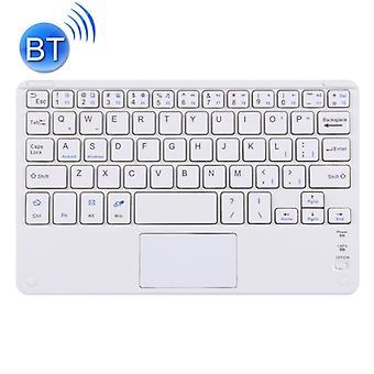 Langaton Bluetooth-näppäimistö, jossa on Kosketuspaneeli, yhteensopiva kaikkien Android&iden kanssa Windows 10 tuuman tabletit, joissa on Bluetooth-toiminnot (valkoinen)