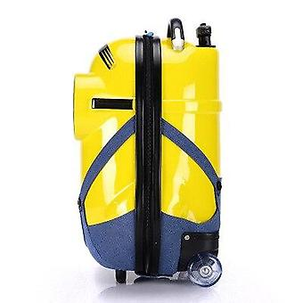 Cartoon Minions, Backpack, Rolling Luggage Spinner Travel Suitcase
