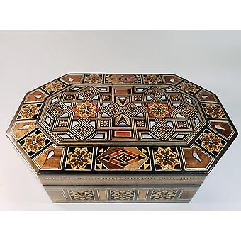 Luxus gyöngyház szíriai mozaik doboz