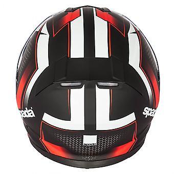 Spada RP En Renegade Motorsykkel hjelm svart rød hele ansiktet gratis pinlock visir