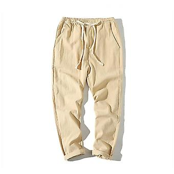 Men's Summer Casual Pants Cotton Harem Trousers