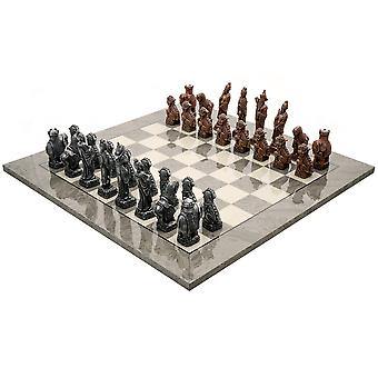 تعيين بيركلي الشطرنج الأفندي الرمادية المعدنية الشطرنج