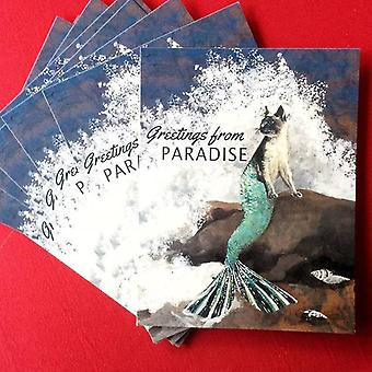 Mermaid Cat Postcard