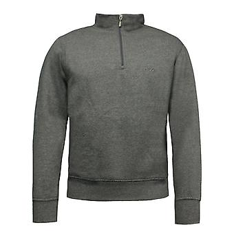 Fila Mens Sweatshirt Half Zip Long Sleeved Jacket Jumper Grey U90825 070 A111D