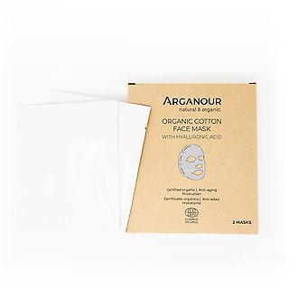 Arganour Organic Bumbac Face Mask Cu Acid Hylaruronic pentru femei