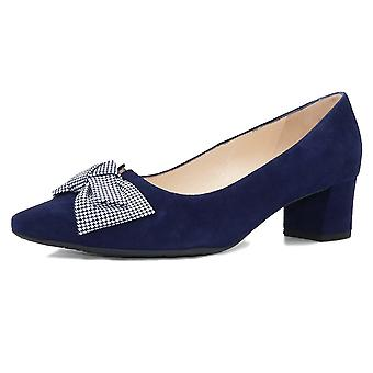 Peter Kaiser Blia-a Wide Fit Court Shoes In Notte Pepita