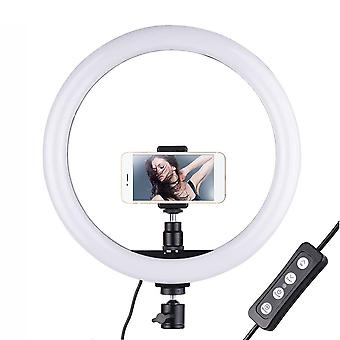 Docooler 12inch ring light with phone holder dimmable 3-color streaming light for vlogging youtube v